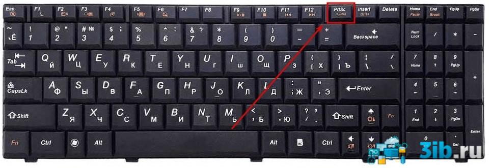 Расположение клавиши Print Screen