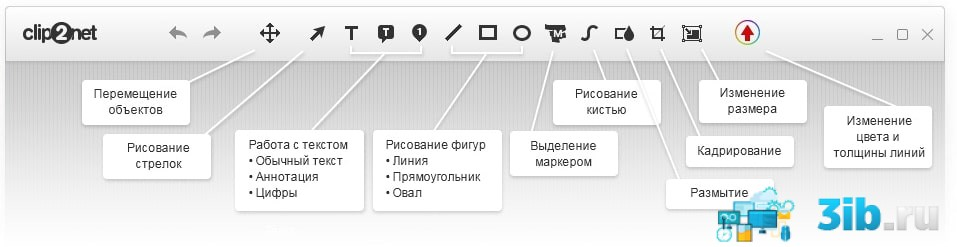Интерфейс программы Clip2Net