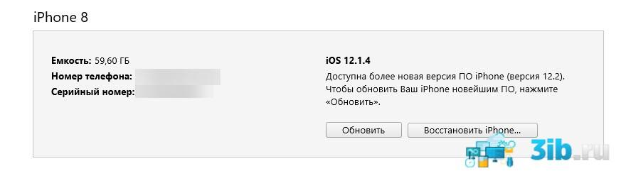 Подключение к iTunes айфона