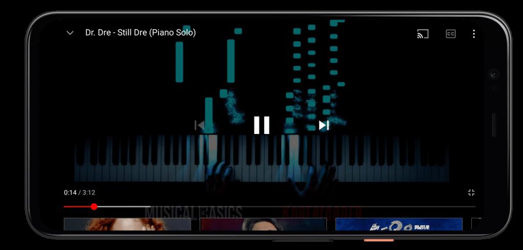 Воспроизведение ролика на Ютубе Андроид